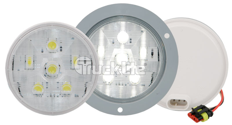 "44344C BACKUP  4"" ROUND ""FLANGE TYPE"" …LED"
